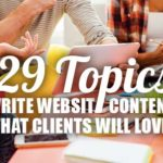 write website content - 29 things
