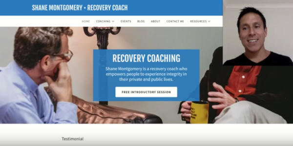 Coaching Website Review – Shane Montgomery – Recovery Coach