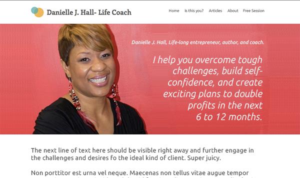 danielle coach website after