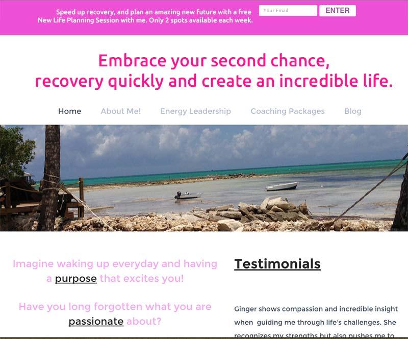 life coach website tweak for ginger