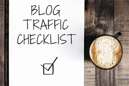blog traffic checklist