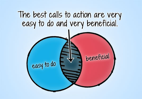 easy beneficial calls to action