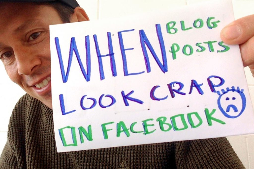 When Blog Posts Look Crap on Facebook – How to Fix