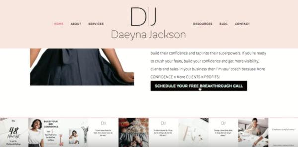 Coaching Website Review – Business Coach Daeyna