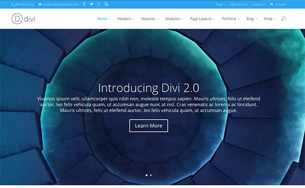 coaching website on divi wordpress theme