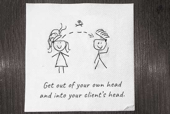 get out of your own head
