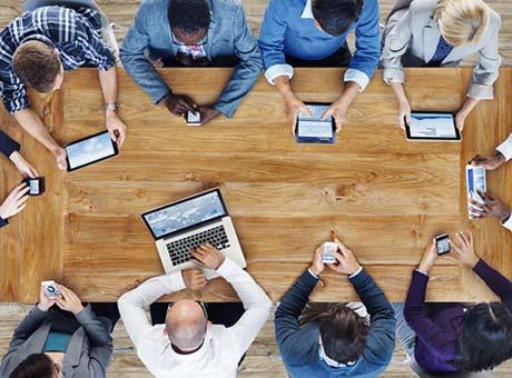 people working on websites