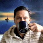 Web Designer Kenn with Blue Mug