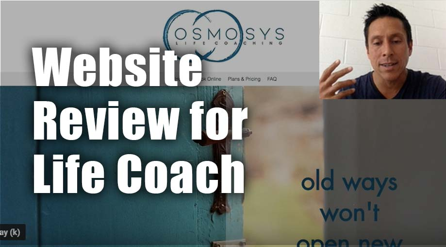 Website Review for Life Coach Derrick