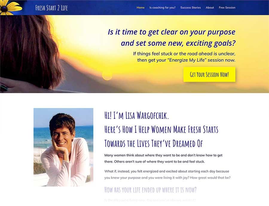 zesty yellow for fresh energy on Lisa's coaching website