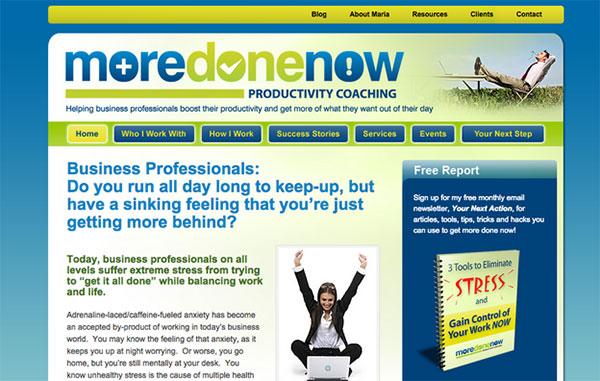 maria - business coach website