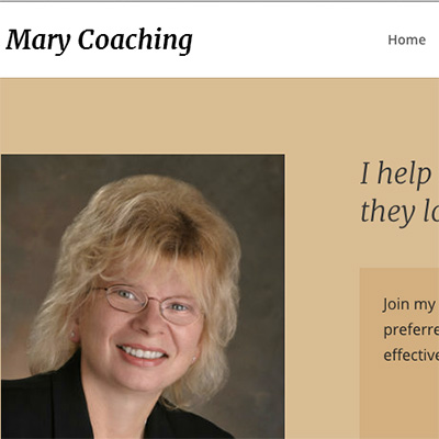 Key Notes as Mary Franz Built Her Own Website Fast