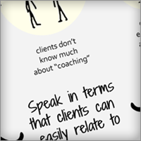 client language diagram in the coaching website guide