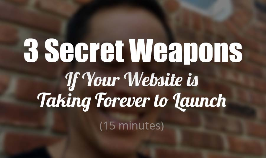 My 3 Secret Weapons to Conquer Overwhelm and  Launch a Great Website