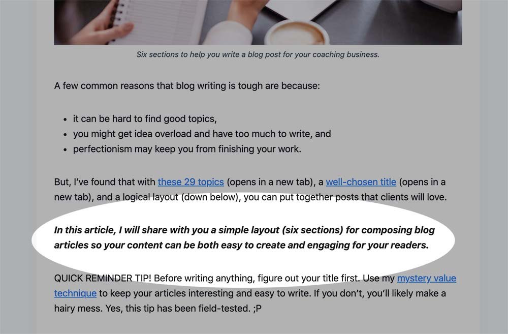 Blog Post Writing Format 2 - The Summary