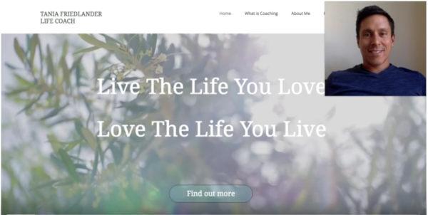 Coach Website Review – Life Coach Tania