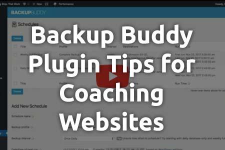 Handy Backup Buddy Tips for Coaches on WordPress