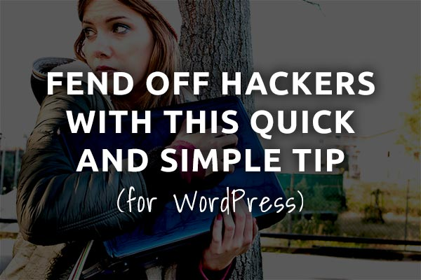 wordpress security tip