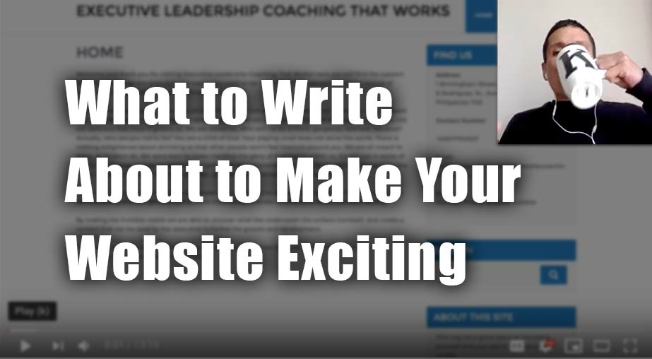 Executive Coach Website Review – Tony